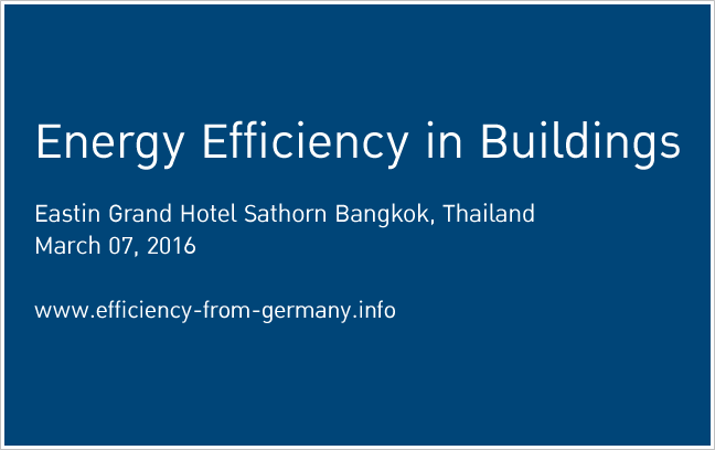 "Invitation to German-Thai Technology Conference ""Energy Efficiency"